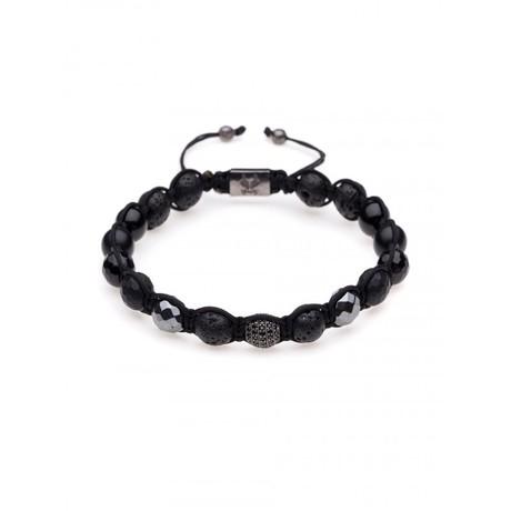 Shamballa String Bracelet // Black