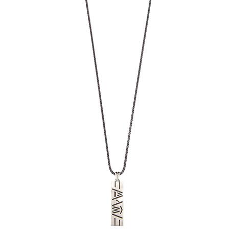 Inscription Necklace // Grey
