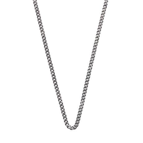 Curb Chain Necklace (Black, Oxide)
