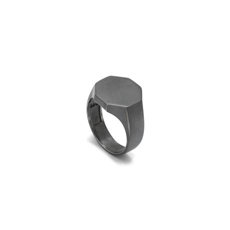 Octagonal Ring // Grey + Oxide