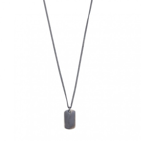 Plate Necklace (Black, Oxide)