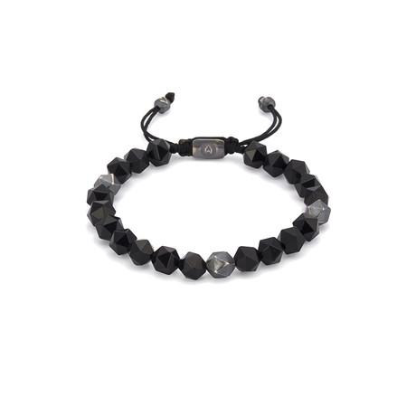 Onyx Octaball String Bracelet // Black