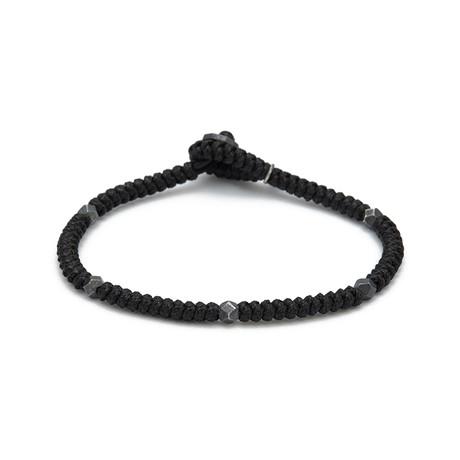 Snake Knot Bracelet // Black