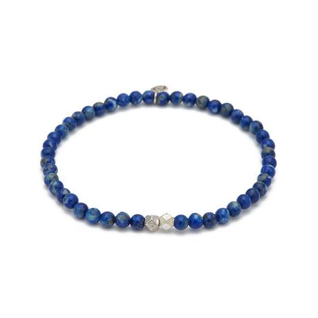 Lapis Mini Charm Bracelet // Blue