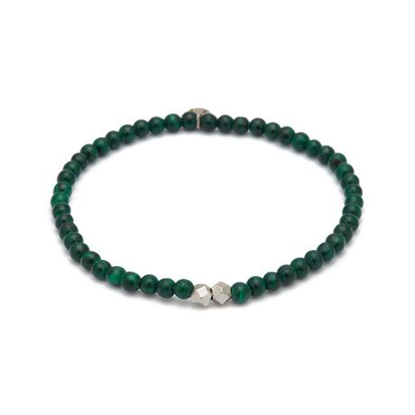 Malachite Mini Charm Bracelet // Green