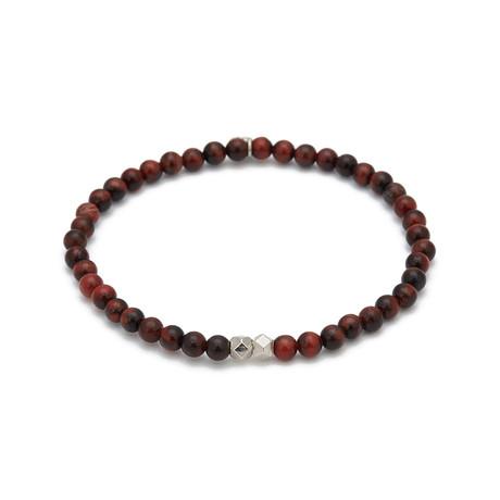 Tiger Eye Mini Charm Bracelet // Red