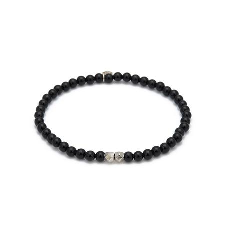 Onyx Mini Charm Bracelet // Black