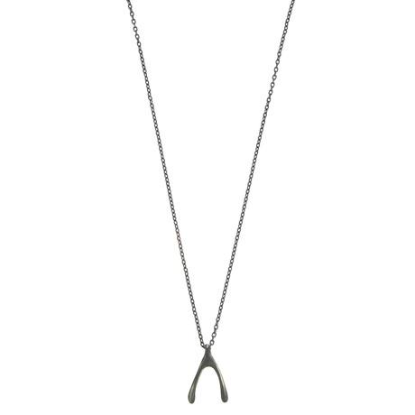 Wishbone Necklace (Black Oxide)