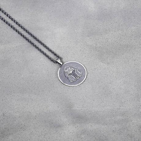 Gladiator Coin Necklace // Black Oxide