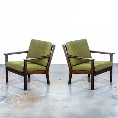 Hans Wegner Getama GE 265 Lounge Chair // Set Of 2