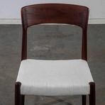 Teak Kai Kristiansen Dining Chairs In White // Set Of 6