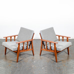 Redlicks // Upholstered Cushion Lounge Chairs // Set of 2