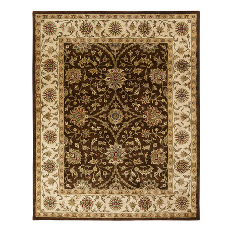 Terzo Traditional // Brown + Ivory (2' x 3')