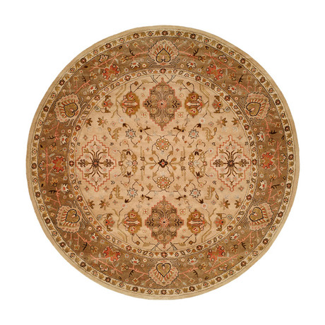 Terzo Traditional // Beige + Brown (2' x 3')