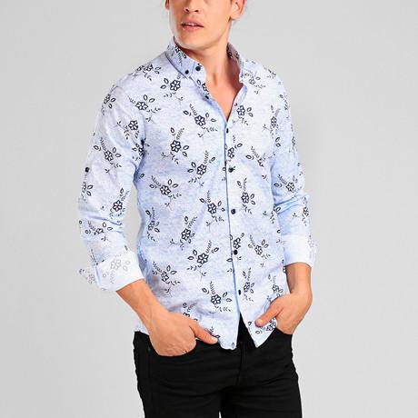 Belize Button Down Shirt // Blue (XL)