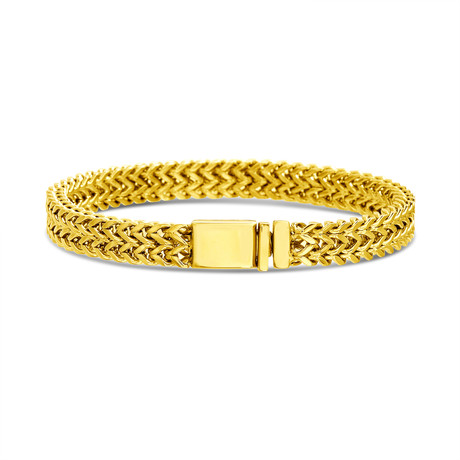 Foxtail Double Chain Bracelet // Gold Plated