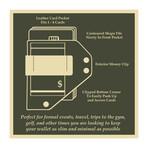 Caliber Clip Wallet // Brown + Nickel Colored Hardware
