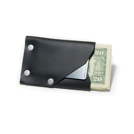 Frontier Wallet // Black + Nickel Colored Hardware