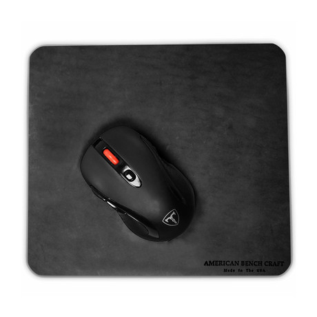 Leather Mousepad // Black