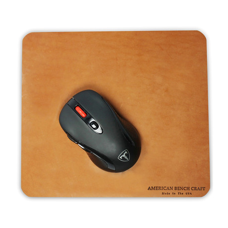 Leather Mousepad // Tan