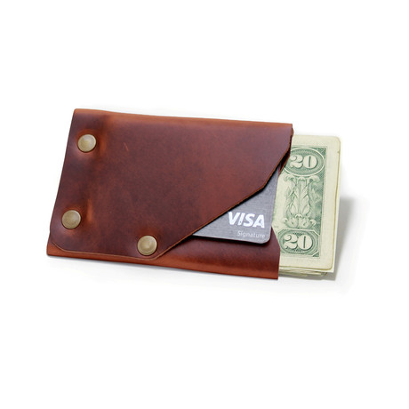 Frontier Wallet // Brown + Brass Colored Hardware