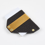 Exotic Caliber Clip Wallet // Black + Brass Colored Hardware