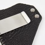 Exotic Caliber Clip Wallet // Black + Nickel Colored Hardware