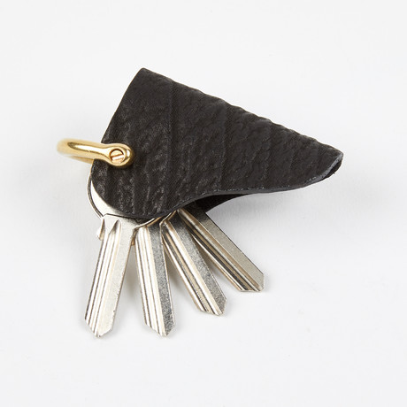Exotic Leather Key Holster // Black