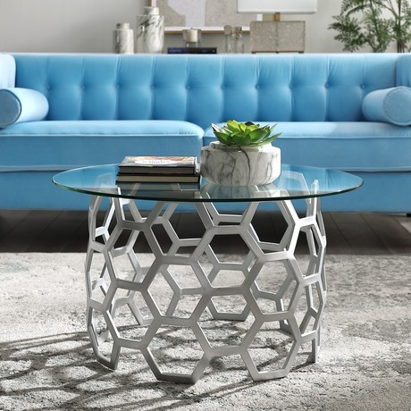 Minae Coffee Table (Silver)