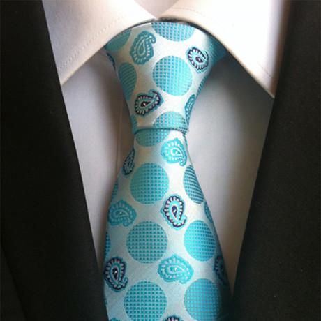 Sulo Tie // Aqua Baby Blue Print