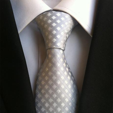 Hugo Tie // Grey White Windowpane