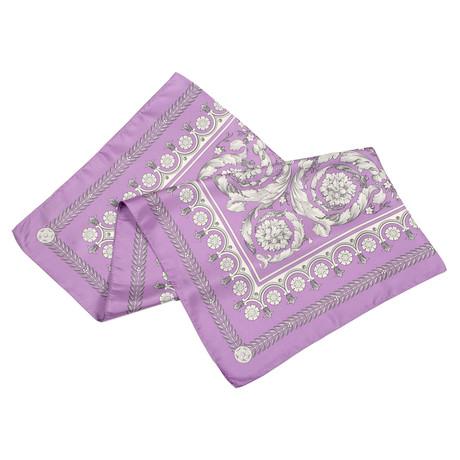 Versace // Women's Scarf // Purple + Gray