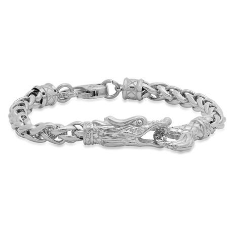 Stainless Steel Dragon Link Bracelet