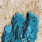 Lake Tahoe // Hillshade // Large