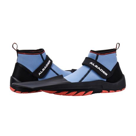 Unisex Hydro Snorkeling Fins Diving Shoes // Blue + Orange (US: 7)