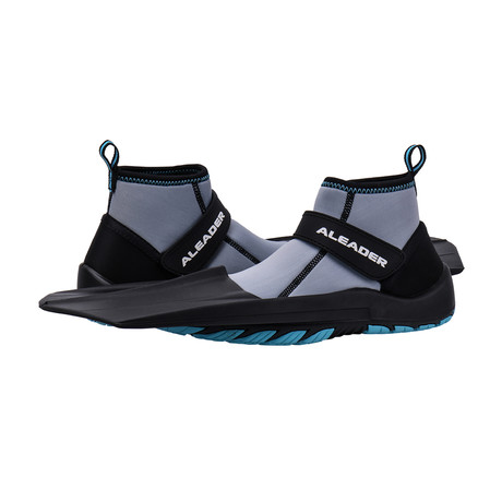 Unisex Hydro Snorkeling Fins Diving Shoes // Gray + Aqua Blue (US: 7)