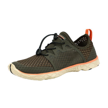 Men's XDrain Venture II Water Shoes // Olive + Orange (US: 7)