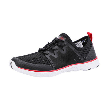 Men's XDrain Venture II Water Shoes // Black + Red (US: 7)