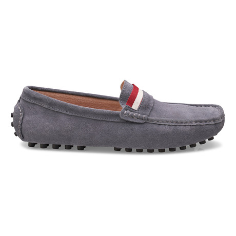 Suede Leather Slip-On Moccasin Loafers // Grey (US: 8)