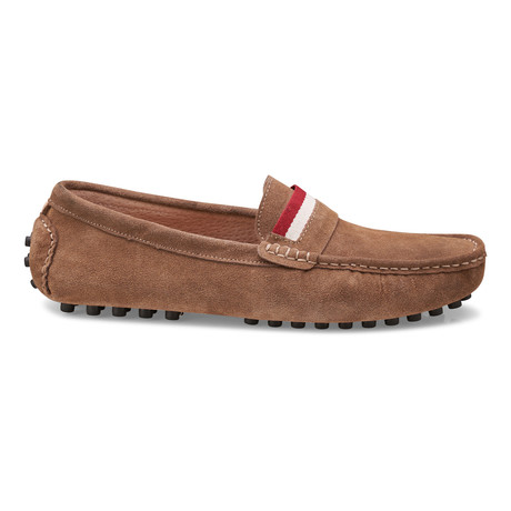 Suede Leather Slip-On Moccasin Loafers // Tan (US: 8)
