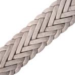 "Suede Braided Belt // Gray (41"" Length)"