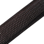 "Lizard Belt + Silver Buckle // Brown (41"" Length)"