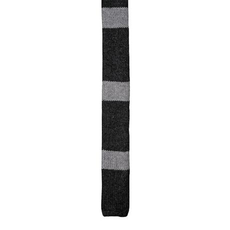 Two Tone Cashmere Tie // Gray