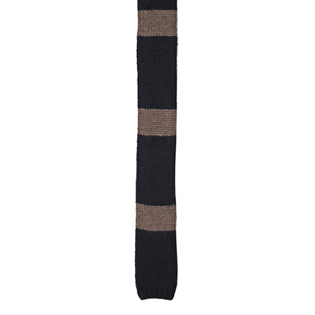 Two Tone Cashmere Tie // Brown