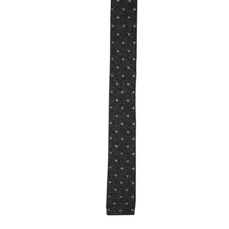 Cashmere Tie // Dark Gray + Tan