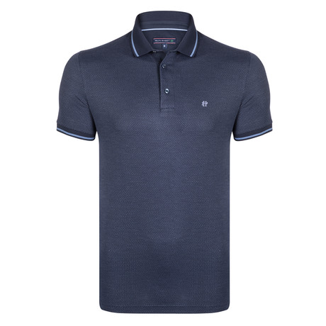 Blair SS Polo Shirt // Navy + Indigo (XS)
