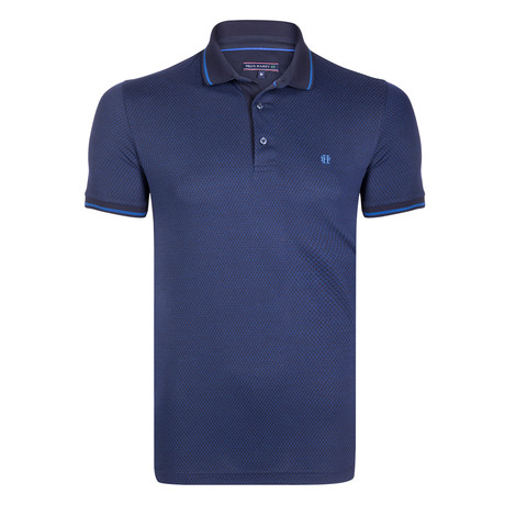 Thatcher SS Polo Shirt // Navy + Indigo (XL)