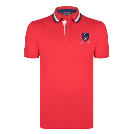 Caleb SS Polo Shirt // Red (S)