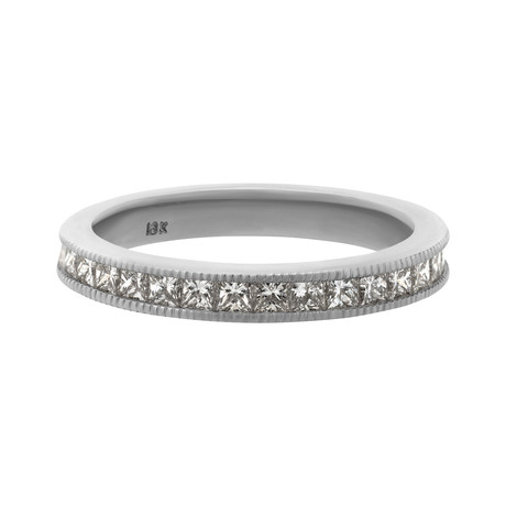 Estate 18k White Gold Diamond Ring I // Ring Size: 6.25