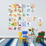 London Alphabets Learning Puzzle Wall Sticker